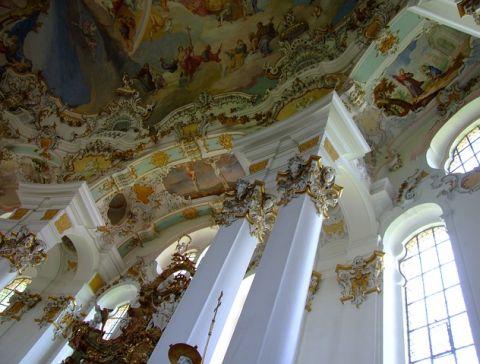 arte rococó iglesia