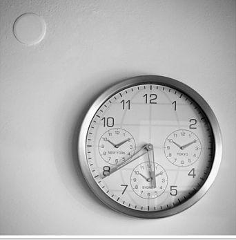 arte minimalista reloj
