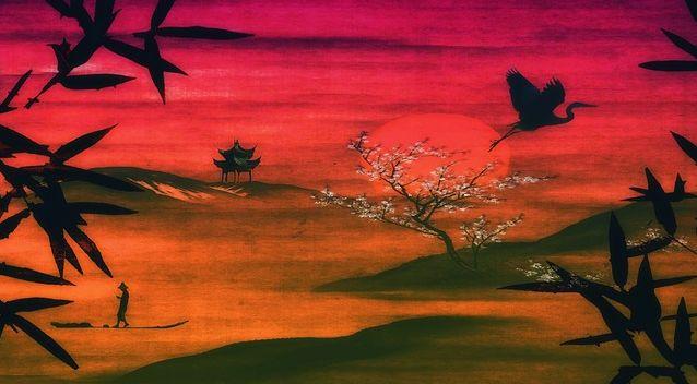 arte japones paisaje